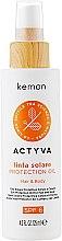 Духи, Парфюмерия, косметика Солнцезащитное масло для волос и тела - Kemon Actyva Linfa Solare Hair&Body Protection Oil SPF 6