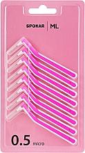 Парфумерія, косметика Міжзубні йоржики, 0,5 мм, кутові - Spokar ML