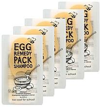 Духи, Парфюмерия, косметика Восстанавливающий шампунь для волос - Too Cool For School Egg Remedy Pack Shampoo (мини)
