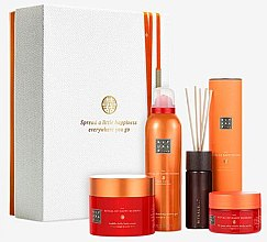 Духи, Парфюмерия, косметика Набор - Rituals The Ritual of Happy Buddha Energising Collection (b/scr/125g + b/cr/200ml + sh/gel/200ml + frag/stics/50ml)