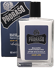 Духи, Парфюмерия, косметика Бальзам после бритья - Proraso Azur Lime After Shave Balm