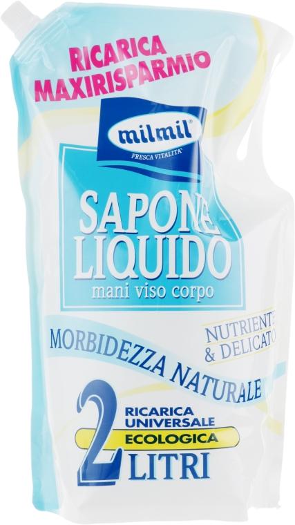 Мыло жидкое для лица, рук и тела - Mil Mil