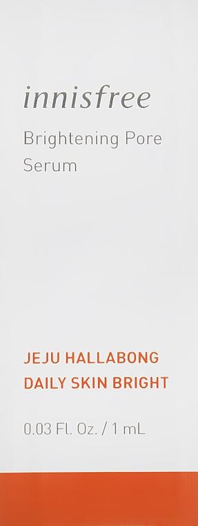 Осветляющая сыворотка для пор с экстрактом халлабона - Innisfree Jeju Hallabong Brightening Pore Serum (пробник)
