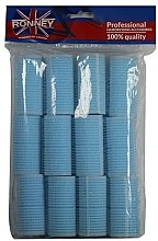Духи, Парфюмерия, косметика Бигуди на липучке 28/63, голубые - Ronney Professional Velcro Roller