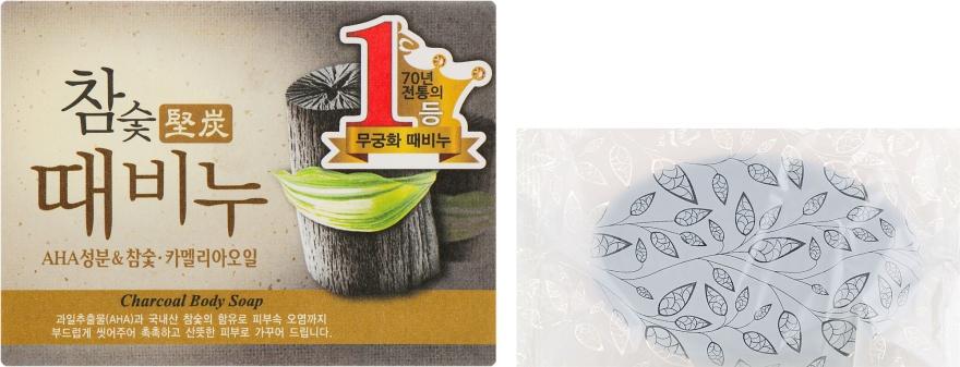 Мыло-скраб с древесным углем - Mukunghwa Hardwood Charcoal Scrub Soap