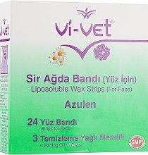Духи, Парфюмерия, косметика Восковые полоски для депиляции лица с экстрактом ромашки - Vi-Vet Liposoluble Wax Strips