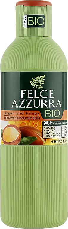 """Гель для душа """"Аргановое масло и Мед"""" - Felce Azzurra BIO Argan & Honey Shower Gel"""