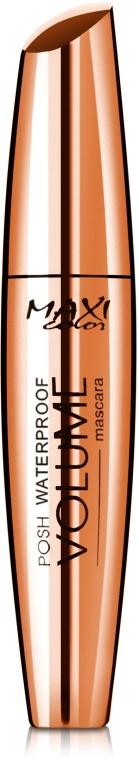 Тушь для ресниц водостойкая - Maxi Color Volume Mascara Posh Waterproof