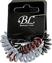 Духи, Парфюмерия, косметика Набор резинок для волос, 405004, коричневая+серая+черная - Beauty Line
