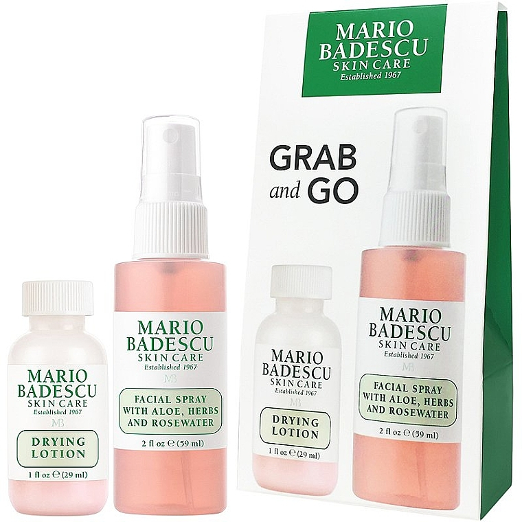 Набор - Mario Badescu Grab And Go Duo Set (lot/29ml+spray/59ml)