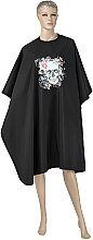 Духи, Парфюмерия, косметика Парикмахерская накидка, черная - Comair Lady Skull