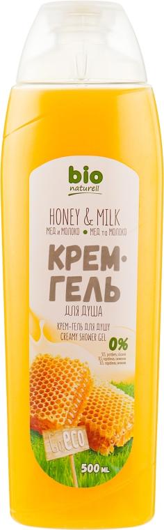 """Крем-гель для душа """"Мед и молоко"""" - Bio Naturell"""