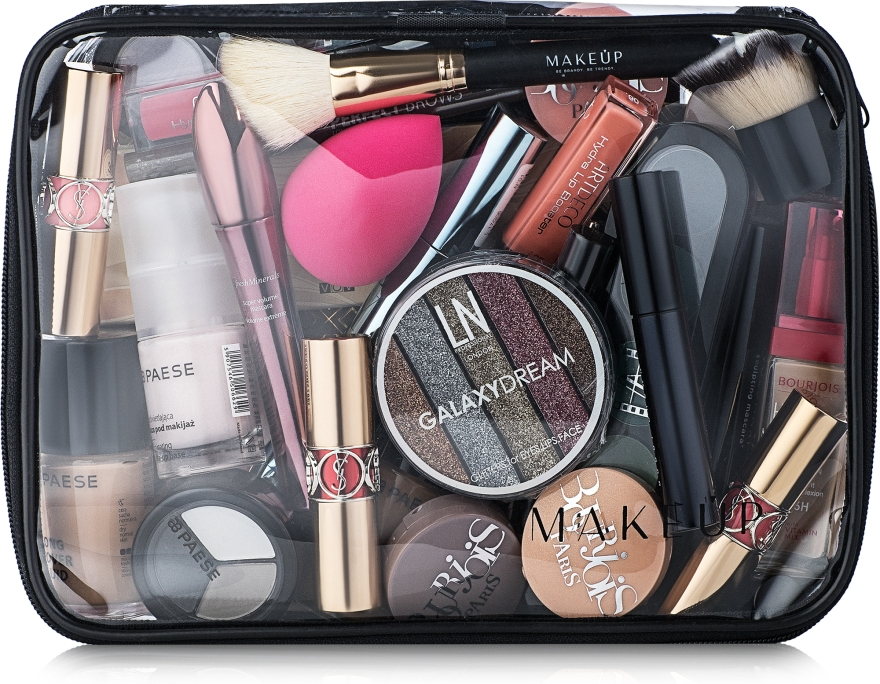 """Косметичка прозрачная """"Visible Bag"""" 25x18x8см (без наполнения) - Makeup"""