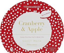 """Духи, Парфюмерия, косметика Маска для лица """"Клюква и яблоко"""" - Vitamasques Sheet Mask Cranberry & Apple"""