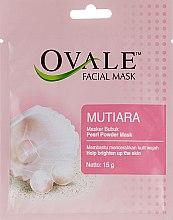 Духи, Парфюмерия, косметика Порошковая маска для свежести и сияния кожи лица с витамином B3 - Ovale Mutiara Mask