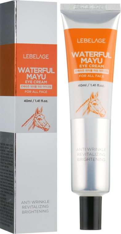 Увлажняющий крем для глаз с конским маслом - Lebelage Waterfull Mayu Eye Cream