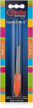 Духи, Парфюмерия, косметика Сапфировая пилка двухсторонняя 13см, оранжевая - Credo Solingen Pop Art