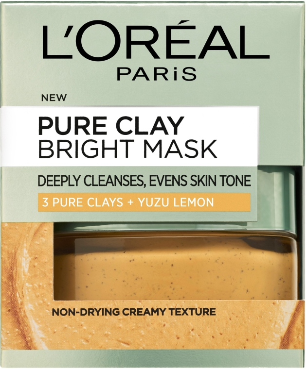"Маска для лица ""3 глины и лимон Юзу"" - L'Oreal Paris 3 Pure Clays and Yuzu Lemon Bright Mask"