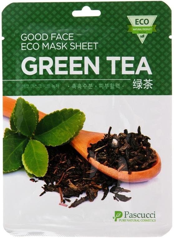 Маска для лица с экстрактом зеленого чая - Amicell Pascucci Good Face Eco Mask Sheet Green Tea
