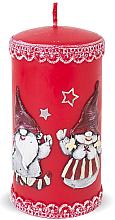 Духи, Парфюмерия, косметика Декоративная свеча, красная, 7х14см - Artman Dwarves