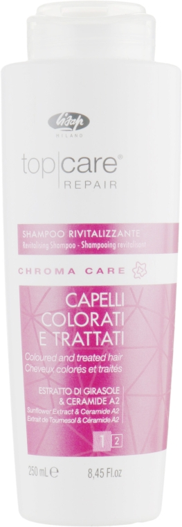 Оживляющий шампунь - Lisap Top Care Repair Chroma Care Revitalising Shampoo