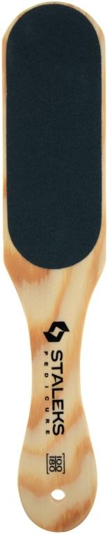 Терка для стоп деревянная ABC 10/1, 100/180 - Staleks Beauty & Care 10 Type 1