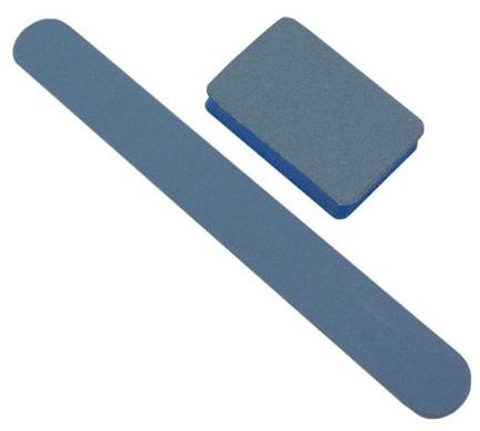 Набор одноразовый голубой баф, пилка 180/240 - Tufi Profi