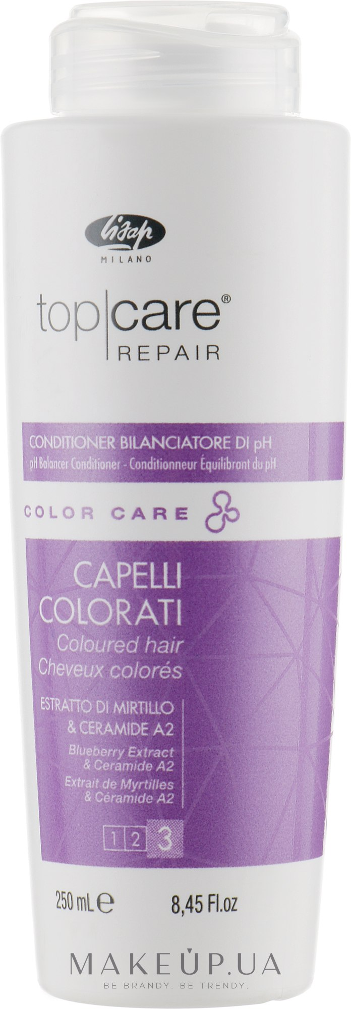 Кондиционер для ухода за окрашенными волосами - Lisap Top Care Repair Color Care pH Balancer Conditioner — фото 250ml