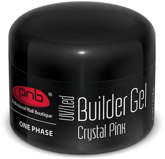 Однофазный моделирующий гель прозрачно-розовый - PNB UV/LED One Phase Builder Gel Crystal Pink