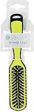 Духи, Парфюмерия, косметика Прямоугольная расческа для укладки, желто-черная - Beauty Line