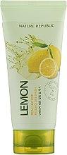 Духи, Парфюмерия, косметика Пилинг-гель для лица с экстрактом лимона - Nature Republic Real Nature Lemon Peeling Gel Wash