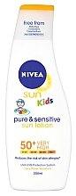 Духи, Парфюмерия, косметика Солнцезащитный лосьон для детей - Nivea Sun Kids Pure & Sensitive Sun Lotion SPF50+