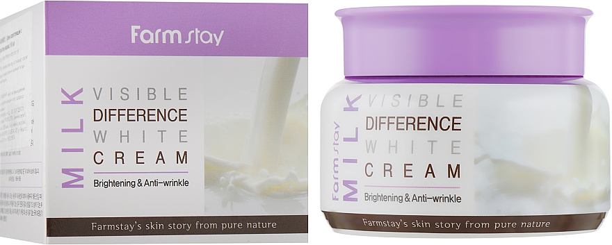 Осветляющий крем для лица с экстрактом молока - FarmStay Visible Difference Milk White Cream