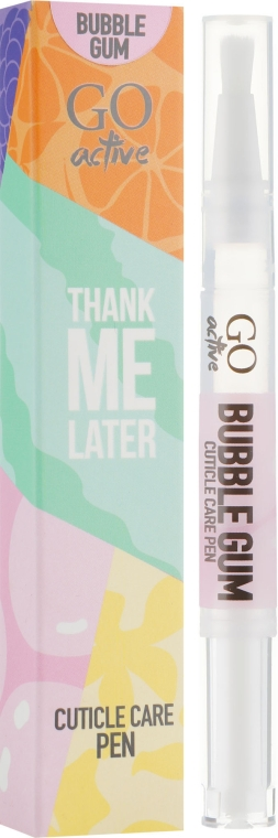 Масло для кутикулы - GO Active Thank Me Later Bubble Gum Cuticle Care Pen