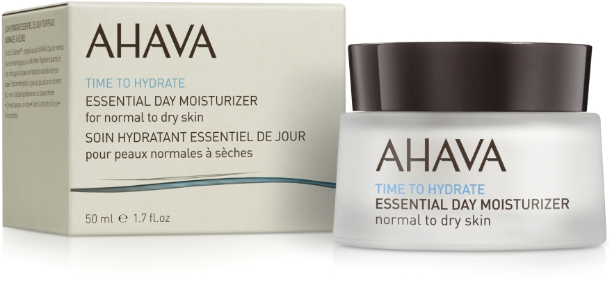 Крем увлажняющий для нормальной и сухой кожи - Ahava Time To Hydrate Essential Day Moisturizer Normal to Dry Skin