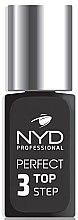Духи, Парфюмерия, косметика Эластичное финишное покрытие для ногтей - NYD Professional Perfect Top 3 Step