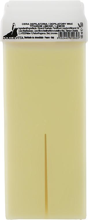 """Воск в картридже """"Лимон с титаном"""" - Dolce Vita Depilatory Wax Titanium Limone"""