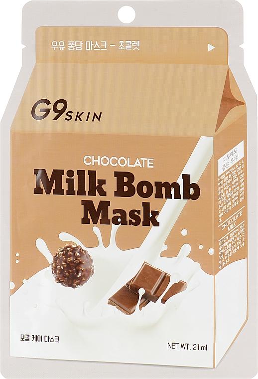 "Тканевая маска ""Шоколад"" - G9Skin Milk Bomb Mask Chocolate"