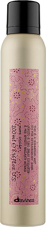 Мерцающий спрей для исключительного блеска волос - Davines More Inside Shimmering Mist