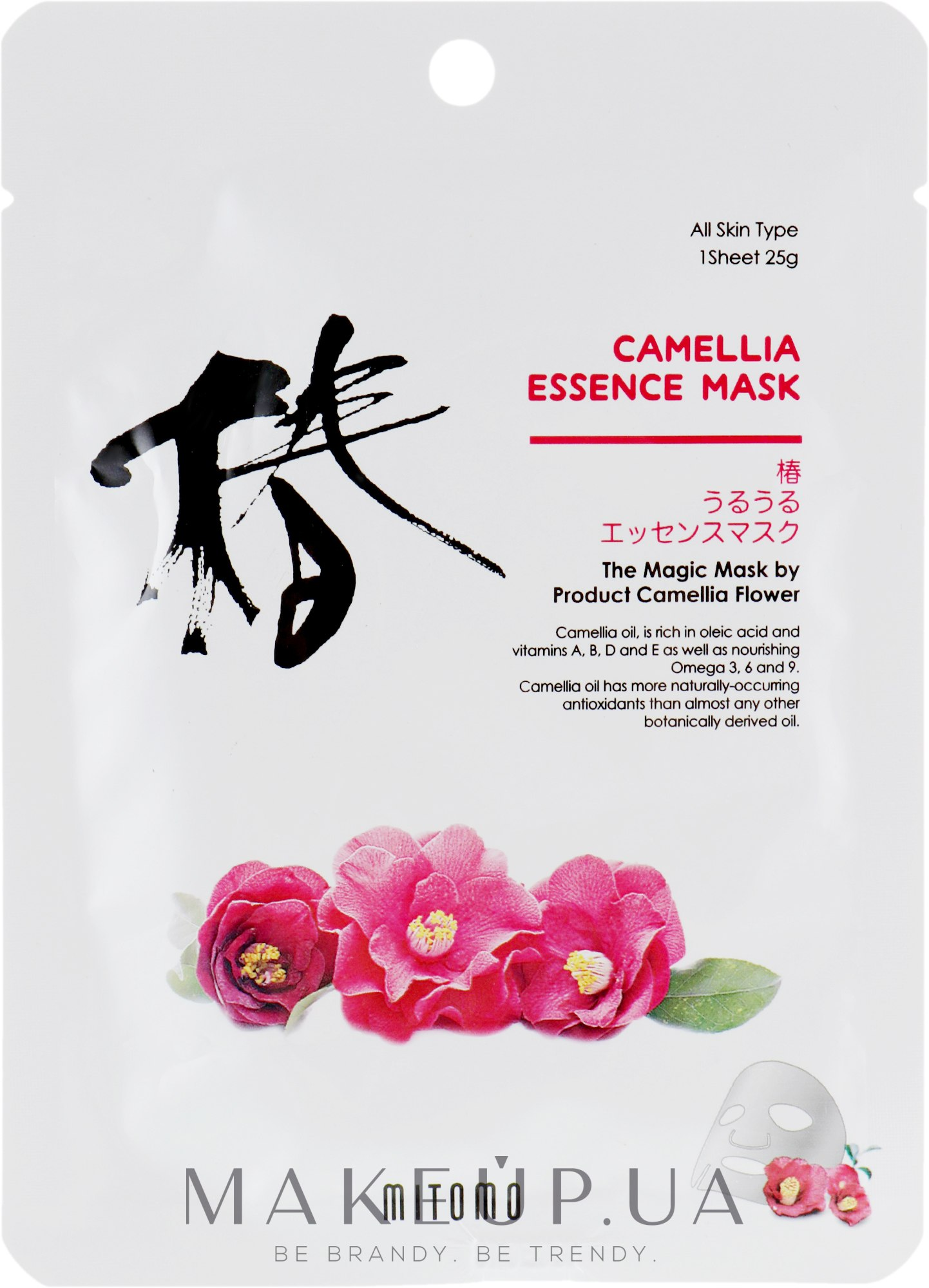 Тканевая маска для лица с камелией - Mitomo Camellia Essence Mask — фото 25g
