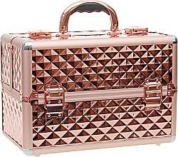 Духи, Парфюмерия, косметика Косметический кейс - Inglot Makeup Case Diamond Rose Gold MB153A-M (K107 4)