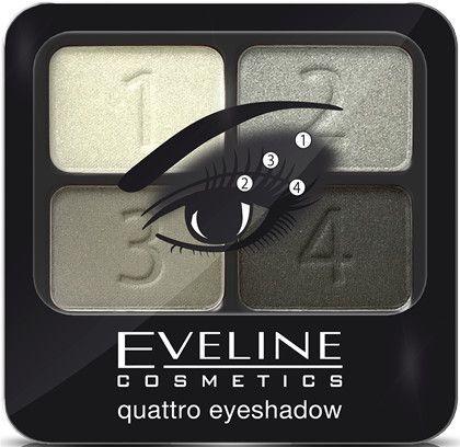 Тени для век - Eveline Cosmetics Quattro Eye Shadow