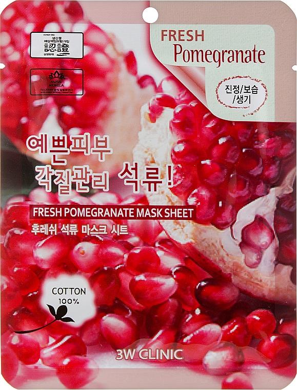 """Тканевая маска """"Гранат"""" - 3W Clinic Fresh Pomegranate Mask Sheet"""