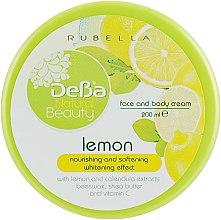"""Духи, Парфюмерия, косметика Питательный, смягчающий и осветляющий крем для тела и лица """"Лимон"""" - DeBa Natural Beauty"""