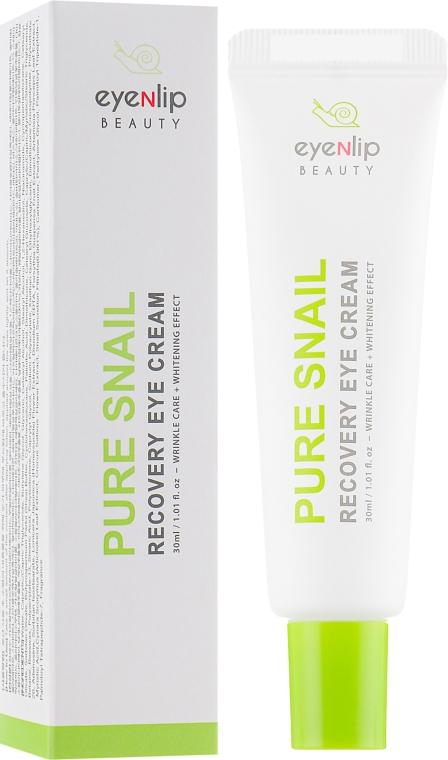 Крем для кожи вокруг глаз с муцином улитки - Eyenlip Pure Snail Recovery Eye Cream