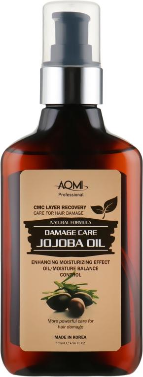 Восстанавливающее масло для поврежденных волос с жожоба - Aomi Jojoba Oil Essence