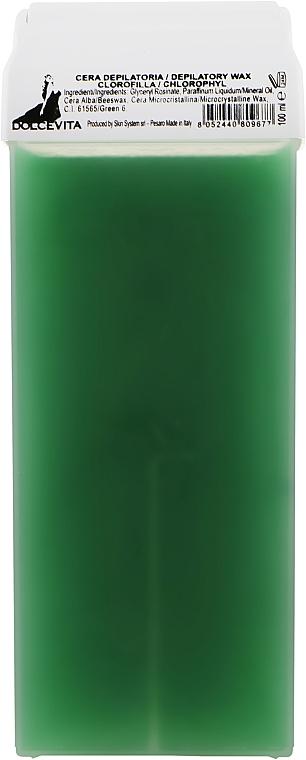 """Воск в картридже """"Зеленый с хлорофиллом"""" - Dolce Vita Depilatory Wax Chlorophyl"""