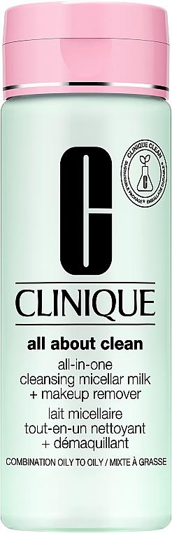 Молочко для снятия стойкого макияжа для комбинированной кожи - Clinique All-in-One Cleansing Milk
