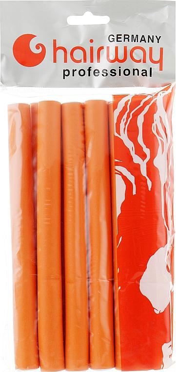 Гибкие бигуди длина 180мм d17, оранжевые - Hairway Flex-Curler Flex Roller 18cm Orange