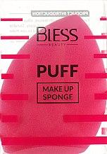 Духи, Парфюмерия, косметика Спонж скошенный, малиновий - Bless Beauty PUFF Make Up Sponge